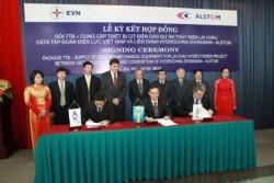 Ký hợp đồng cung cấp thiết bị cơ điện cho dự án thủy điện Lai Châu
