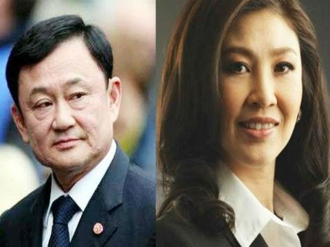 Cựu Thủ tướng Thái Lan(Thaksin Shinawatra) và em gái (Thủ tướng Yingluck Shinawatra)