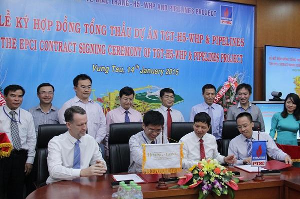 PTSC M&C và HLJOC ký Hợp đồng Tổng thầu Dự án H5 mỏ Tê Giác Trắng