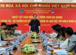 Đại tướng Trần Đại Quang làm việc tại NMLD Dung Quất