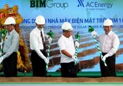 Khởi công dự án Nhà máy điện mặt trời BIM 1