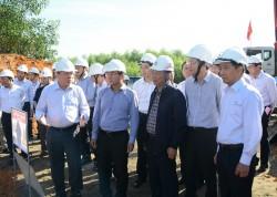 Lãnh đạo EVN kiểm tra tiến độ ĐZ 500 kV Quảng Trạch - Dốc Sỏi