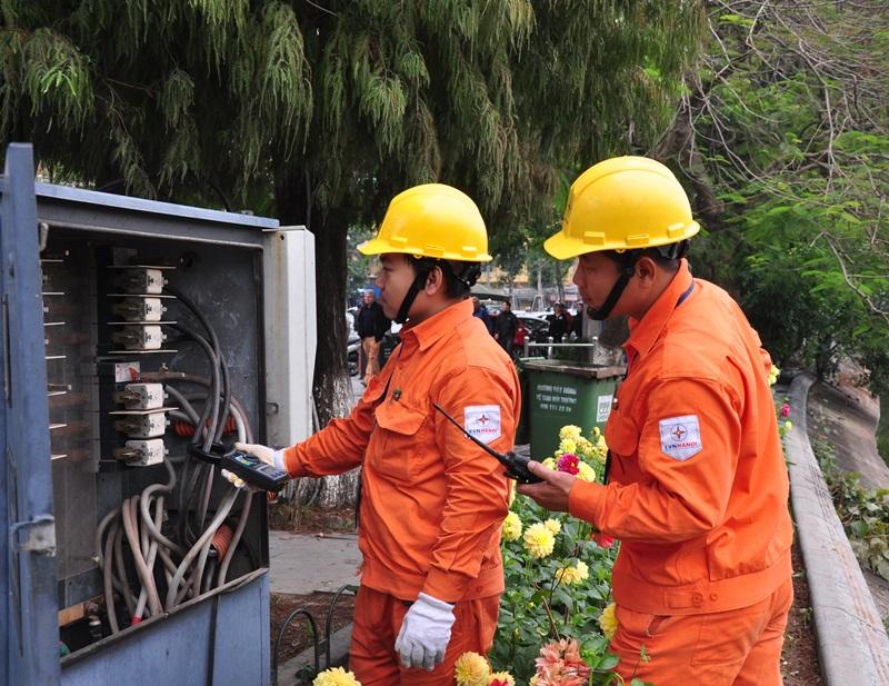 EVNHANOI tăng cường đảm bảo điện phục vụ tết Kỷ Hợi 1