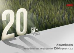 LONGi cán mốc 20 GW mô-đun trong năm 2020