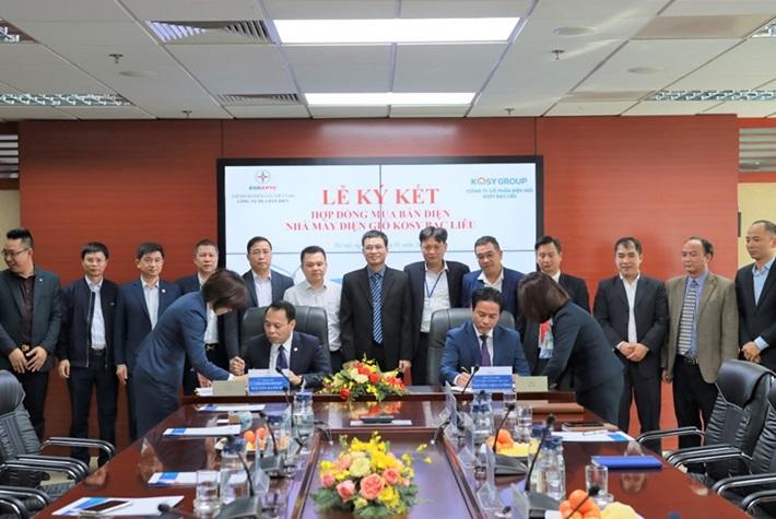 Ký hợp đồng mua bán điện dự án điện gió Kosy Bạc Liêu (giai đoạn 1)
