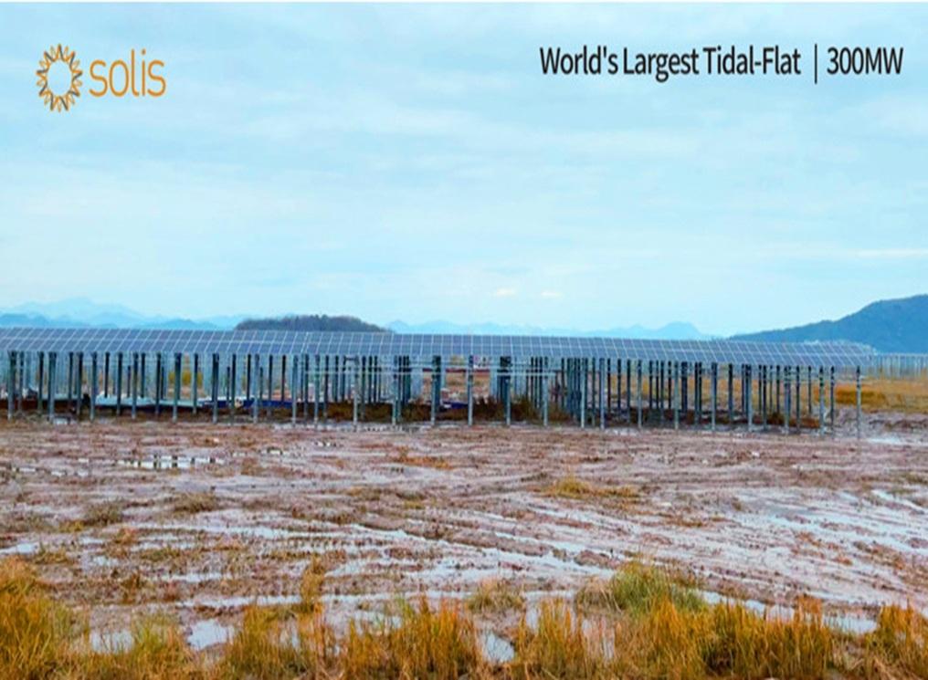 Nhà máy PV bãi triều ven biển lớn nhất Trung Quốc đấu nối vào lưới điện