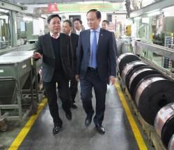 Lãnh đạo Thành phố Hà Nội làm việc với CADI-SUN