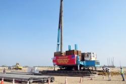 Đóng cọc khu vực lò hơi dự án nhiệt điện Sông Hậu 1
