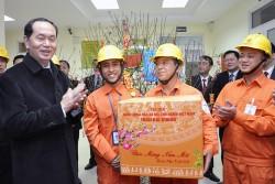 Chủ tịch nước thăm và chúc Tết EVNHANOI
