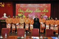 Bí thư Thành ủy Hoàng Trung Hải thăm và chúc Tết EVNHANOI