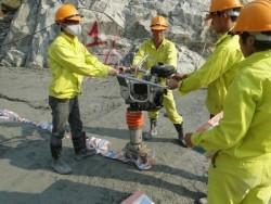 Đổ m3 bê tông đầm lăn đầu tiên, mốc quan trọng của Thuỷ điện Lai Châu