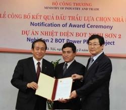 Trao thầu Dự án nhiệt điện BOT Nghi Sơn 2