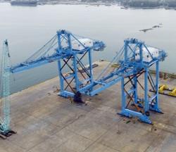 Doosan Vina xuất 2 cẩu trục đến cảng lọc dầu Nghi Sơn