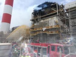 Đã khống chế sự cố cháy tại dự án NĐ Duyên Hải 3 MR