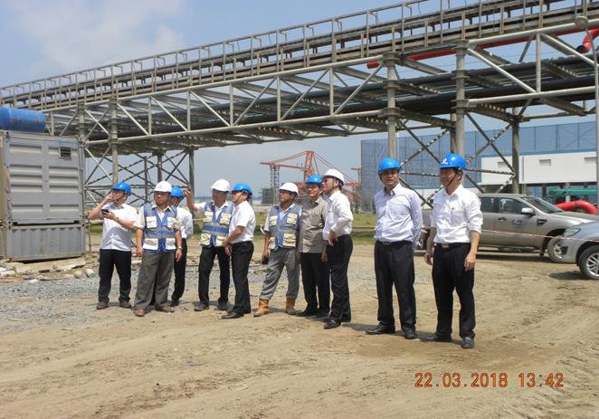 Chủ tịch GENCO1 làm việc tại Trung tâm Điện lực Duyên Hải
