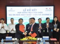 Ký hợp đồng mua bán điện dự án Nhiệt điện Na Dương 2