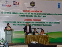 Trên 4 triệu USD cho dự án tăng trưởng xanh của Việt Nam