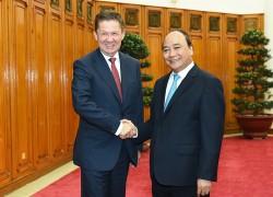 Thủ tướng: Ủng hộ Gazprom mở rộng hoạt động tại VN