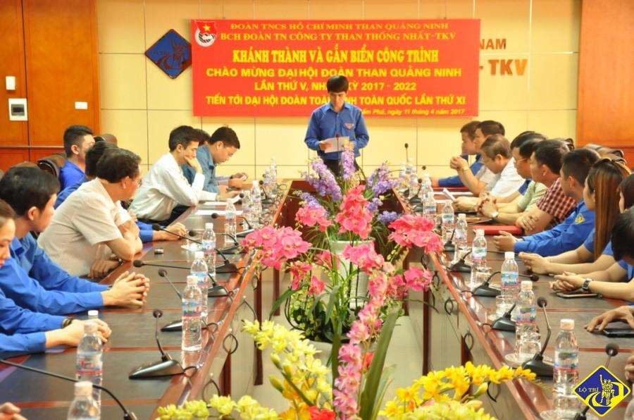 Gắn biển công trình Chào mừng Đại hội Đoàn than Quảng Ninh nhiệm kỳ 2017-2022 tiến tới đại hội đoàn toàn tỉnh, toàn quốc lần thứ XI