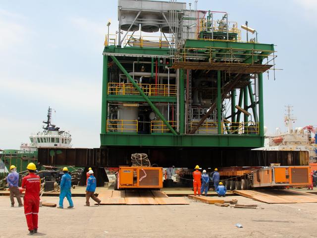 Hạ thủy Module Train A dự án 'Mở rộng công suất nén khí Lô 09-1'
