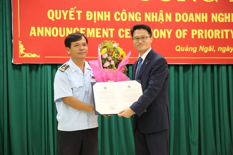 Doosan Vina Certified the Customs' AEO Certificate