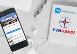 EVNHANOI phát triển kênh về dịch vụ điện trên ứng dụng Zalo
