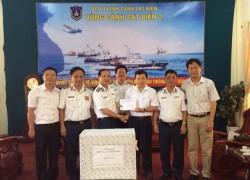 PC Vĩnh Phúc ủng hộ Cảnh sát biển và Đội kiểm ngư vùng 2