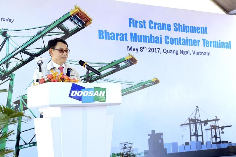 Doosan Vina xuất cẩu trục chạy ray tới Ấn Độ 1