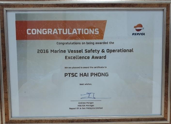PTSC Marine nhận giải thưởng quốc tế về an toàn hàng hải 1