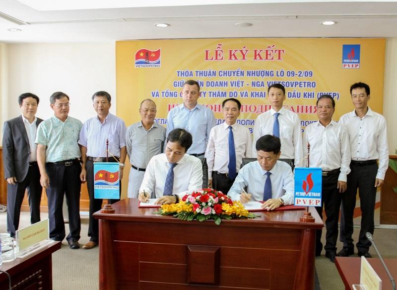 Vietsovpetro và PVEP ký thỏa thuận chuyển nhượng Lô 09-2/09