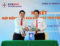 PC Hậu Giang ký hợp đồng mua bán điện mặt trời trên mái nhà