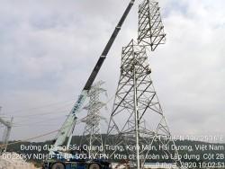 Đường dây 220 kV NĐ Hải Dương-TBA 500 kV Phố Nối gặp khó trong GPMB