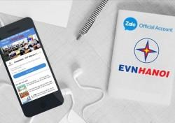 Thanh toán tiền điện trực tiếp qua trang tin của EVNHANOI trên Zalo