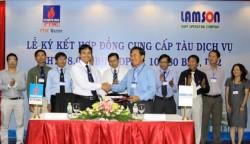 Ký Hợp đồng cung cấp tàu dịch vụ Lam Sơn JOC - PTSC Marine