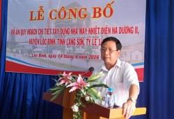 Công bố Đề án Quy hoạch dự án nhiệt điện Na Dương II