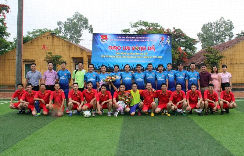 Đoàn thanh niên than Quảng Ninh giao lưu bóng đá 1