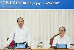 Thủ tướng làm việc với lãnh đạo Tp. Hồ Chí Minh