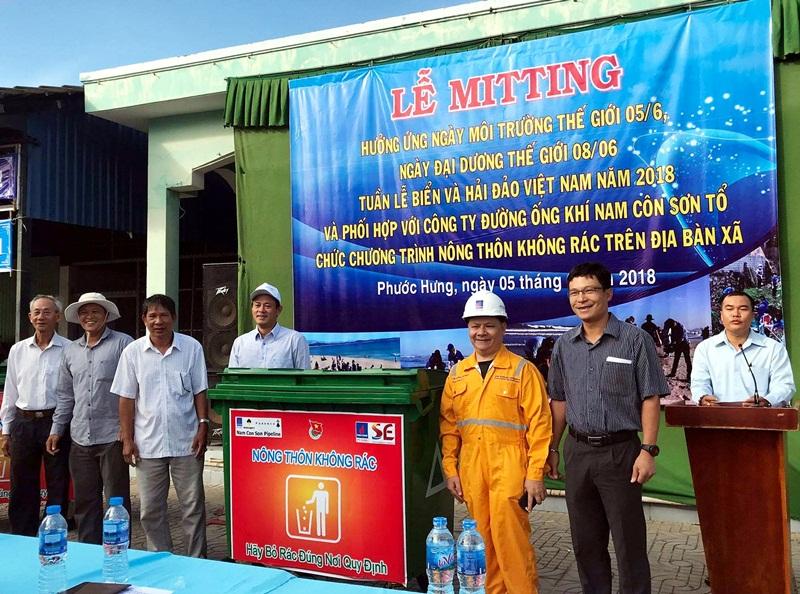 """PV GAS với chương trình """"Nông thôn không rác"""" tại Vũng Tàu 1"""