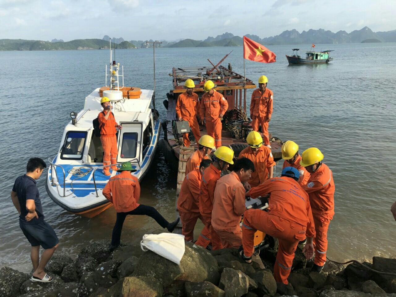 Nỗ lực cấp điện trở lại cho huyện đảo Cô Tô, Vân Đồn 1