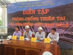 Thủy điện Đồng Nai 5-TKV diễn tập PCTT-TKCN