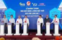 Khánh thành Nhà máy điện mặt trời BCG-CME Long An 1