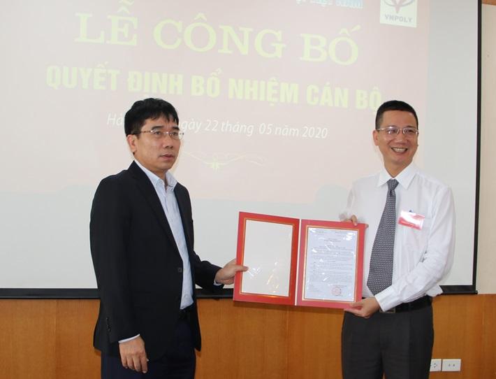 Bổ nhiệm Tổng giám đốc Công ty CP Hoá dầu Xơ sợi Việt Nam