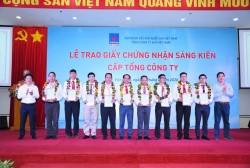 Trao giấy chứng nhận sáng kiến cấp Tổng công ty Khí Việt Nam