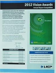Báo cáo Thường niên 2012 của PVFCCo đạt giải Bạch Kim Quốc tế