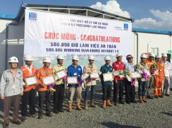 Dự án NM xử lý khí Cà Mau đạt mốc 0,5 triệu giờ an toàn