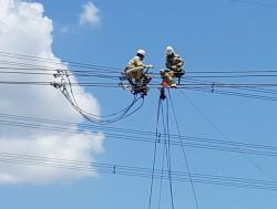 Căng lại dây dẫn khoảng néo 985-1005 ĐZ 500 kV mạch 1