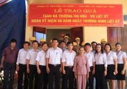 Truyền tải điện Hà Tĩnh tặng nhà cho gia đình liệt sĩ