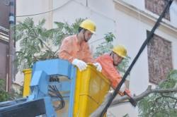 EVN khẩn trương khắc phục sự cố do bão số 1 gây ra