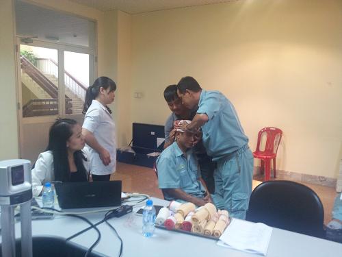 EVNHPC DHD huấn luyện sơ, cấp cứu cho người lao động
