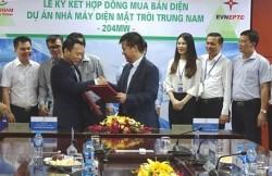 Ký hợp đồng mua bán điện dự án điện mặt trời Trung Nam